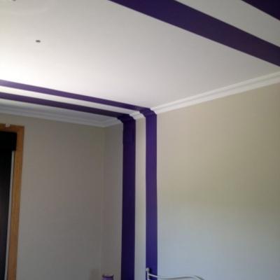 listas verticales decorando