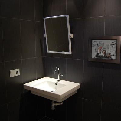 Pantalla tactil en baño