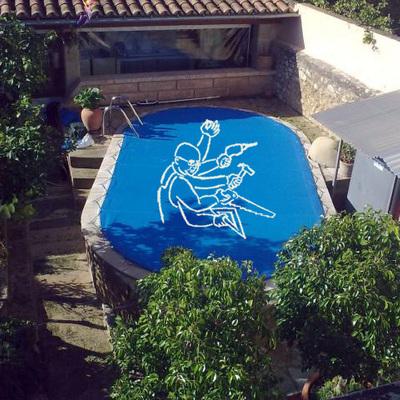 lona cubre piscina