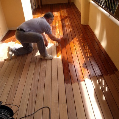 madera de ipe en terraza