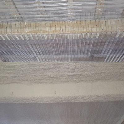 Mortero proyectado  de Perlita y Vermiculita, previa instalación de malla
