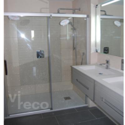 Mampara en baño