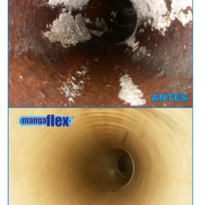 antes y despues rehabilitacion de tuberia sin obra