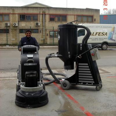 Máquinas de pulido de hormigón en seco