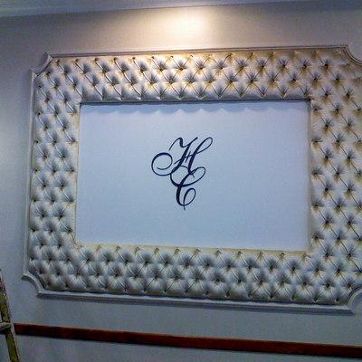 Marco tapìzado en capitone para le Hotel Carmen de Guadix - Granada -