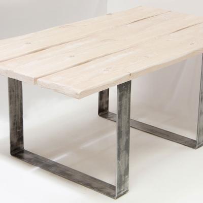 Mesa industrial forja y madera max