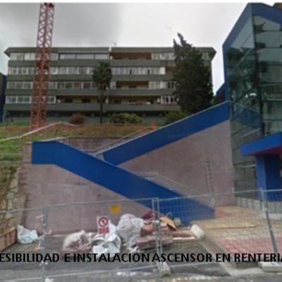 ACCESIBILIDAD E INSTALACION ASCENSOR EN RENTERIA (GUIPUZCOA)