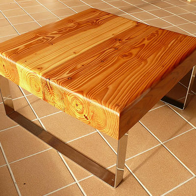 mesa centro douglas acero inox