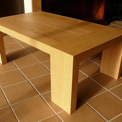 mesa centro fresno macizo