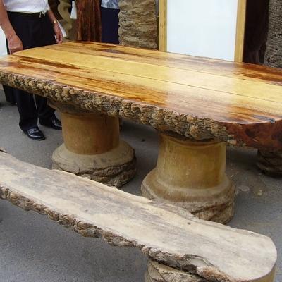 Mobiliario hecho con la palmera