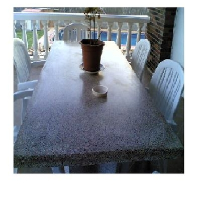 mesas de piedra