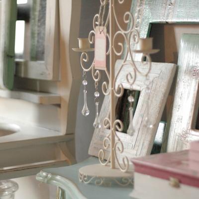 Conjunto de elementos decorativos.
