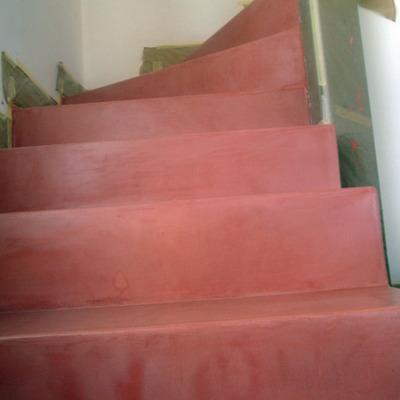 Microcemento en Escalera
