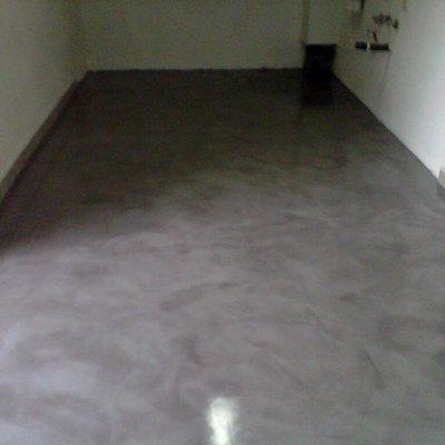Microcemento en suelo interior