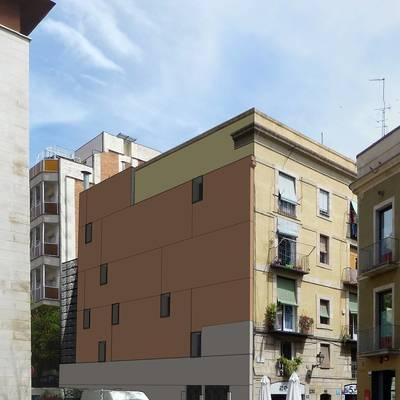 Rehabilitació de paret mitgera a Ciutat Vella (Barcelona)