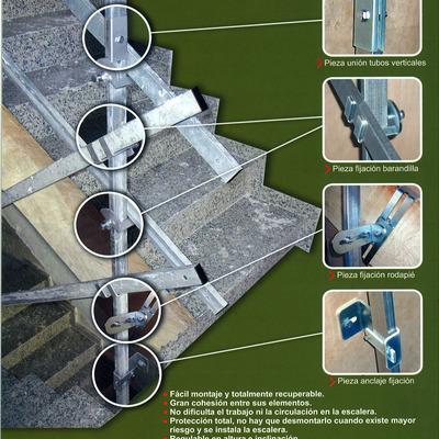 Montaje Barandilla Protección Escalera