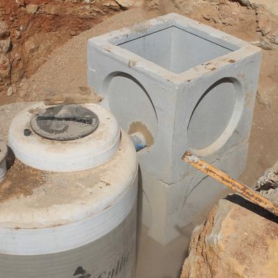 Montaje depósitos en complejo residuos