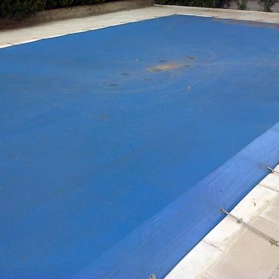 montaje lona piscina