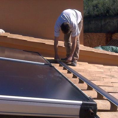 Montaje solar termica