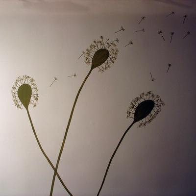 Motivo pintado en pared