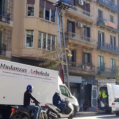 Mudanza en Barcelona-calle Balmes