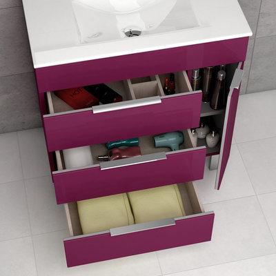 Mueble de baño cajone abiertos