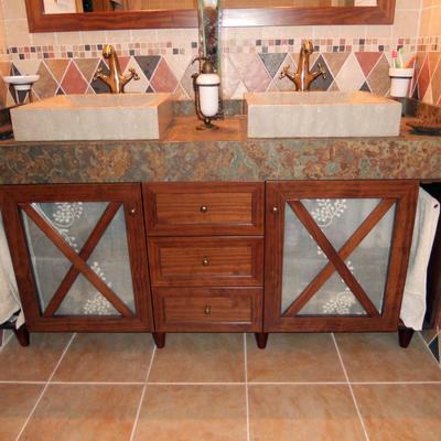 Mueble baño  a medida rustico