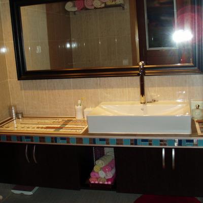 mueble baño de obra