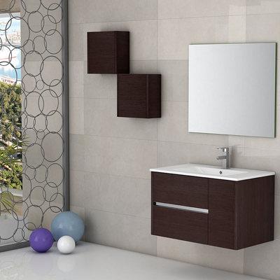 Mueble de baño color ascuro