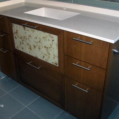 Mueble de baño a medida madera
