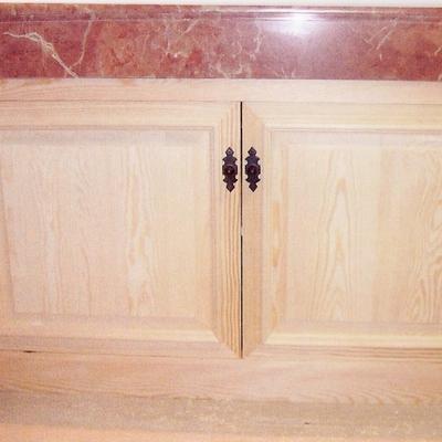 Mueble de baño en madera de PINO