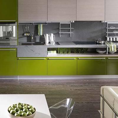 Mueble de Cocina Lacado alto brillo