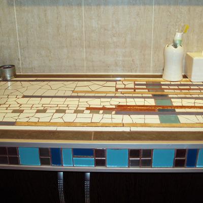 mueble de obra en baño