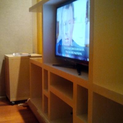 mueble de pladur visto desde otro angulo terminado