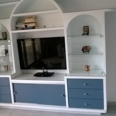 Mueble de escayola terminado y decorado modelo Bassett
