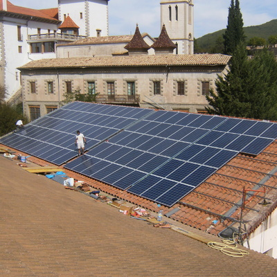 instalación fotovoltaica  en Pallé .Pallars Jusà