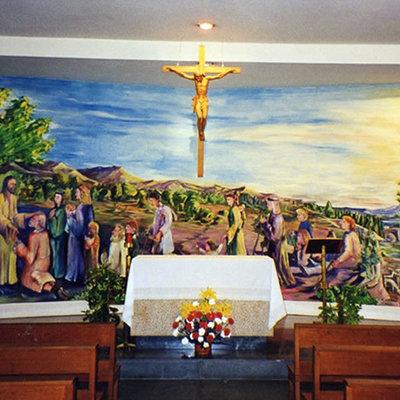 Mural de gran formato Capilla Hospital Virgen de la Arrixaca.