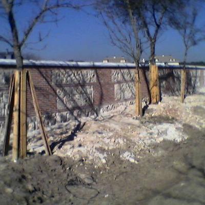 muro casa campo