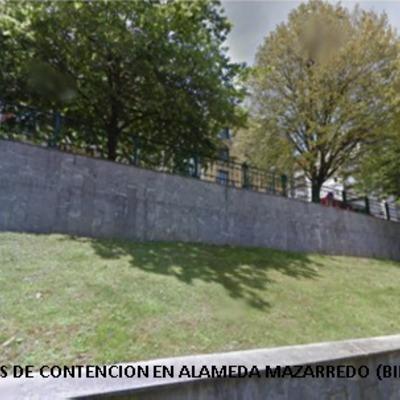 MUROS DE CONTENCION EN ALAMEDA MAZARREDO (BILBAO)