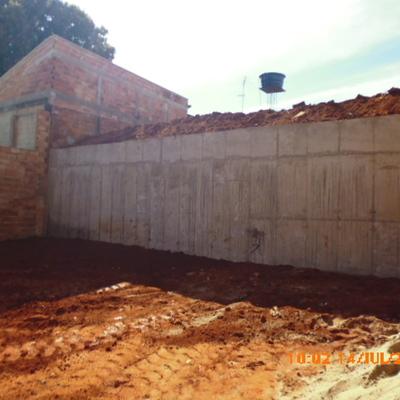 Muro de hormigon armado