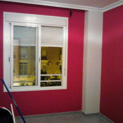 vivienda color rojo