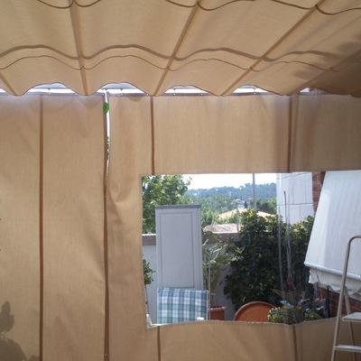Corredero marino con cortinas