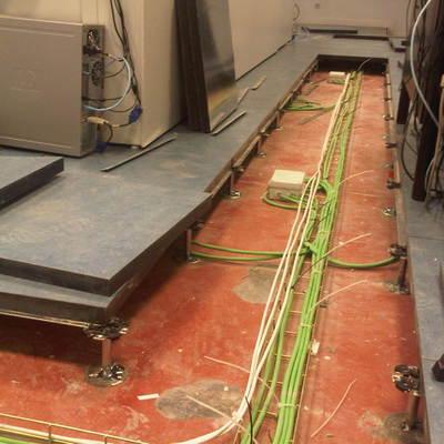 Instalación en piso técnico