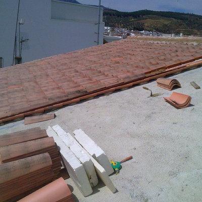 tejado sobre forjado inclinado antequera