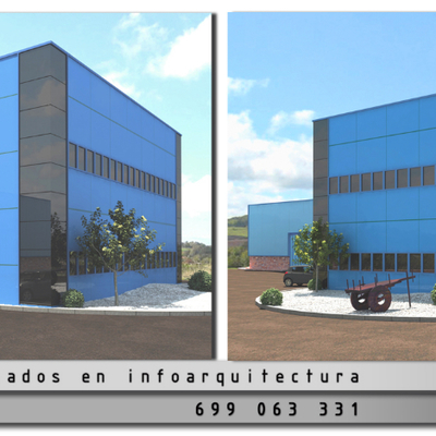 Nave industrial 3d