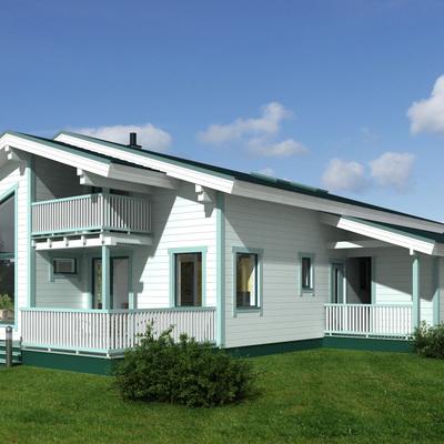 Casa de madera ecológica modelo Isla 175