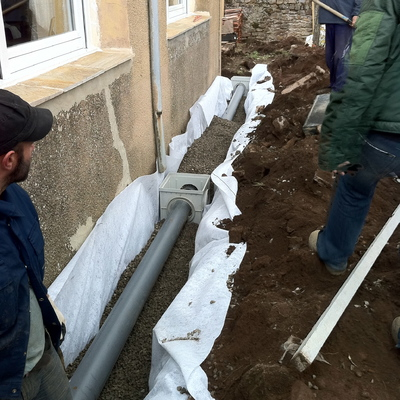 Obra civil drenajes perimetrales