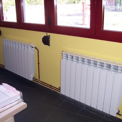 Obra de calefacción