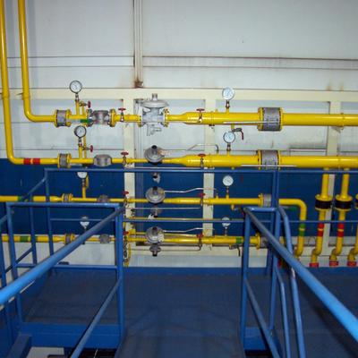 Obra de gas