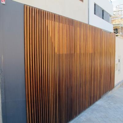 Obra nueva - unifamiliar Haro - puerta garaje